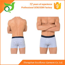 Hot selling low price sexy model man boxer underwear