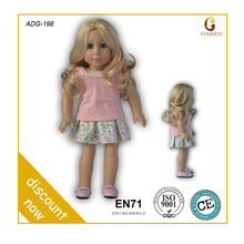 OEM service curly hair vinyl 18 girl doll