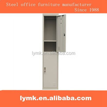 2 tier cold roll steel student locker with hanging rod