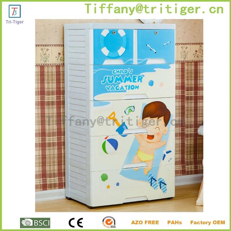 Blue color livingroom outdoor plastic storage cheap wardrobe cabinets for kids (1).jpg