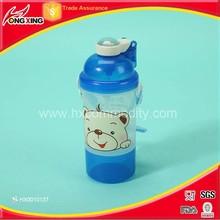 Cartoon design nap cap plastic safest bpa free kid water bottle