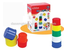 multicolored stacking cups passed EN71for kids