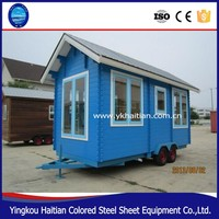 Modified container house price /container coffee shop/ container house with wheels