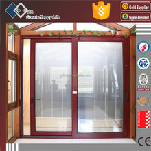 Sliding doors aluminum and wood,Heavy lift sliding door with electrical louvers inside