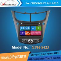 HD capacitive screen car dvd player car audio for Chevrolet Sail 2015