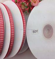 1/2'' 12MM jacquard ribbon plaid ribbon Scottish style red plaid ribbon for hairbows 50yards/roll