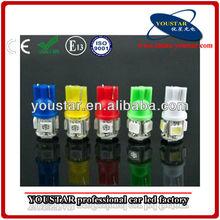 t10 5 smd 5050 led bombillas de coche lado de luz blanca led bombilla de la cuña 194 168 w5w