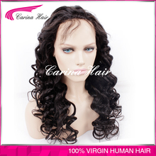 Carina Hair Products Factory Price High Quality Curly Full Lace Human Hair Wig