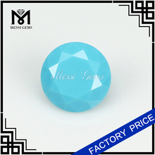 Synthetic Turquoise Nano Stone Round Brilliant Cut 8MM Turquiose Nano