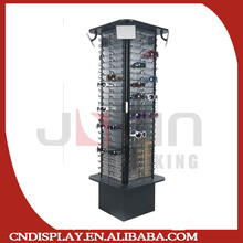 Black wire glasses rack with cabinet