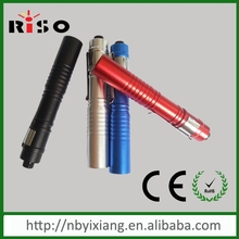 AAA battery mini hand-held aluminum uv engraved medical pen light with clip