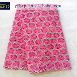 Multicoloured guipure embroidery lace fabric with stones/ pink bridal lace fabric wholesale
