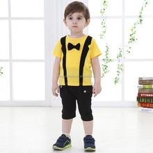 Fashion Kids Clothing Set 2015 Summer Children Costume Short Cotton Tops+pants Kids Clothes Set Boys Clothes Suit