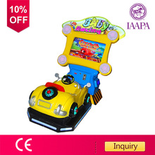 3D Baby racing car kids game machine