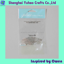 Custom self adhesive bags polypropylene pp opp pe