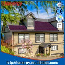 Hanergy 10kw solar panel system for home grid system on sloping inclined roof