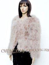 Cx-g-a-90 de plumas de pavo ~ chaqueta de las señoras ropa de sport