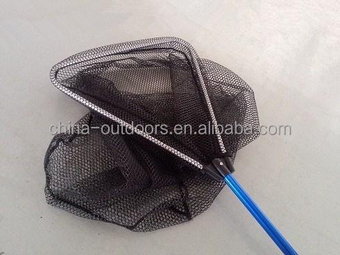Telescopic folding aluminum long handle triangle nylon for Long handle fishing net