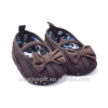 Atractivo diseño de china de suela suave de bebé de cuero precioso zapato zapato de niño, bebé zapatos