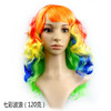 Hot sale Ombre color long curly synthetic hair cosplay wigs