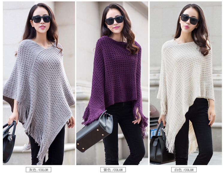 New Design Wholesale Knitting Pattern Ladies Winter Ponchos Buy