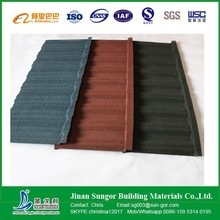 Low Cost Aluminium Colorful Stone Coated Metal Roofing Tile