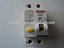 AUBLM with CE mark Magnetic RCBO circuit breaker
