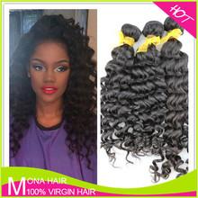 2015 hot selling deep wave virgin remy Peruvian hair weave