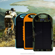 China New Innovative Product External Battery 12000mah solar charger with led light