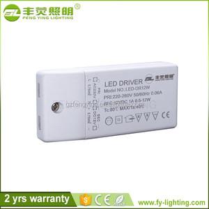 Rekabetçi Fiyat Plastik 6 w 12 w 18 w ip20 led güç kaynağı, led sürücü ac100-240v/50-60 hz