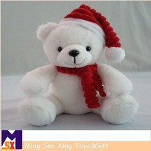 shenzhen SEDEX supplier christmas teddy bear with red ribbon