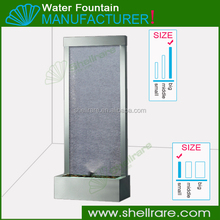 glass water fountain with texturd glass waterfall products for indoor&outdoor decoration