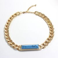 Yiwu Europe and America trade jewelry wholesale fashion chain sapphire necklace costume jewelry SN34
