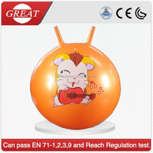 Inflatable good sell orange space hopper ball with grips