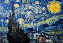 Skilled Artists Handmade with High Quality Canvas Starry Night Van Gogh Reproduction Oil Painting