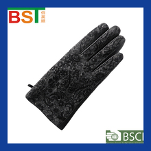 BST52233 TIANJIN BIOSUNTEX 100% sheepskin wholesale BSCI certlficate Daily Life using Ladies leather glove