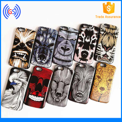 2016 The Newest Colored Relief Hybrid 3d Silicon Animal Case For Iphone 5c