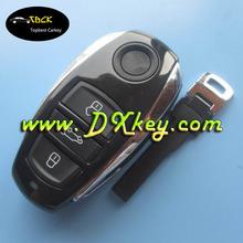 key blanks wholesale for vw key cover 3 button with HU66 emergency key VW Touareg key shell