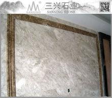 Tv background wall design polishing materials marble for Kaesar Grey