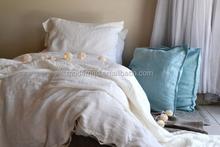 popular pure linen sheet set,duvet cover set, white colour
