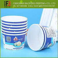Custom Printed China Supplies Ice Cream Paper Cup