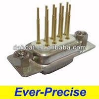 9 pin female db9 hollow nut connector