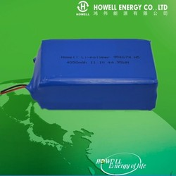 CE UL certificated Lithium ion battery pack 11.1V