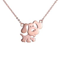 Alloy necklace pendant necklace high quality gold-plated silver necklace puppy shape