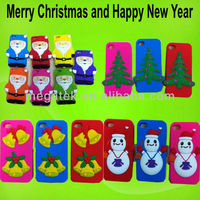 hone case 3D character Santa Claus Christmas case for iphone 5s 5 ,for iphone 5 case Christmas ,for iphone 5s case silicone