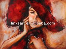 beautiful girl oil painting handmade wall art