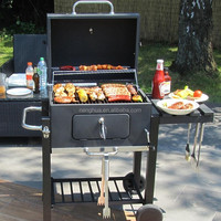 Patio Charcoal Grill Out BBQ In The Garden