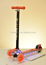 2015 new model music with light T-bar mp3 pedal mini kick scooter
