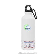 18oz Kid Aluminum Sports Water Bottle With Carabiner bpa free