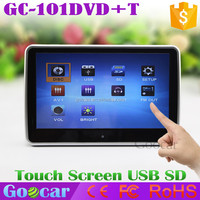 TFT LCD Touch Screen 10 inch Headrest Car DVD Player with IR/FM transmitter